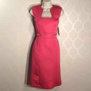 🆕TAHARI PINK WAIST BUCKLE DRESS